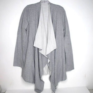 Hard Tail Cardigan Open Front Waterfall Pockets